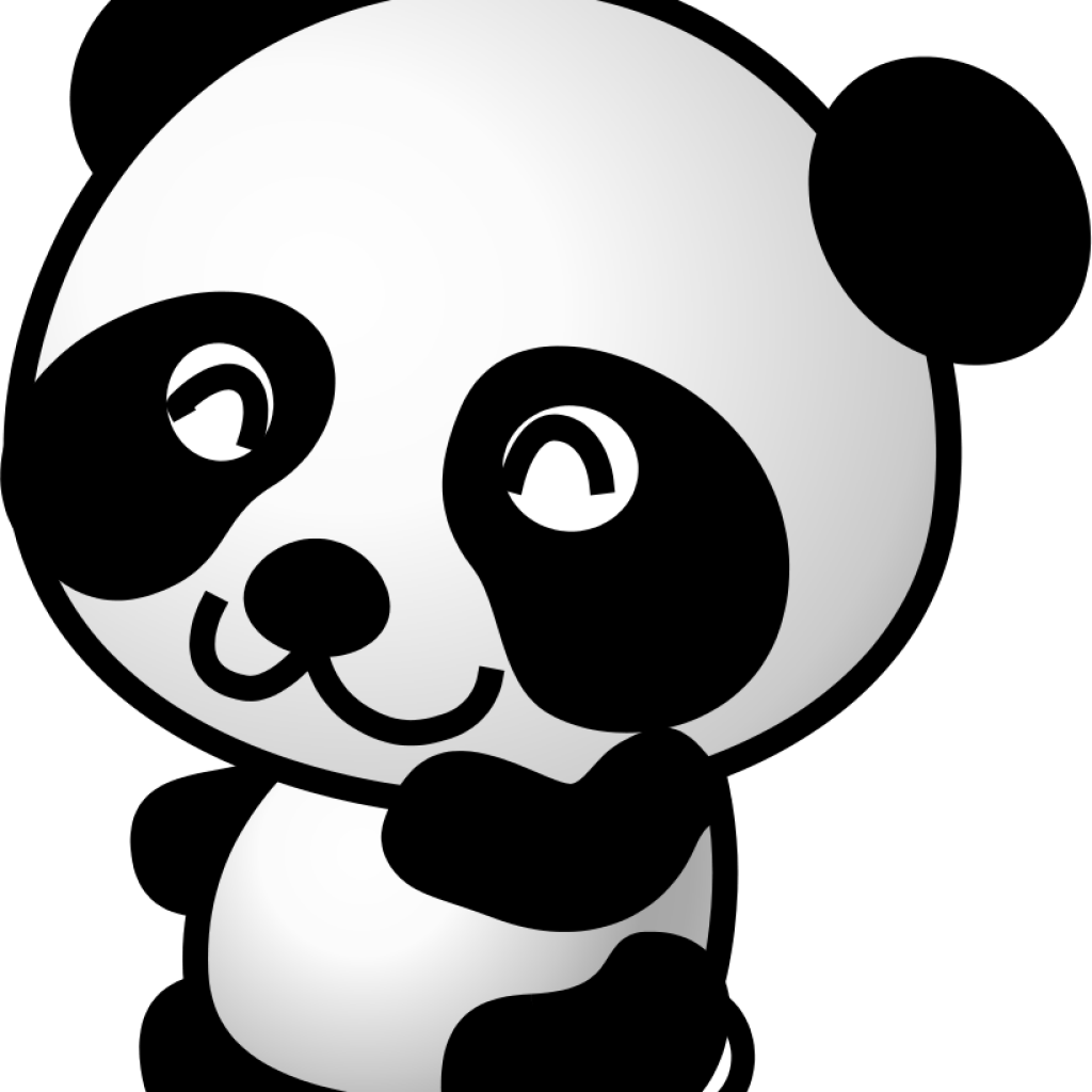 Clipart panda three cartoon. Free images face
