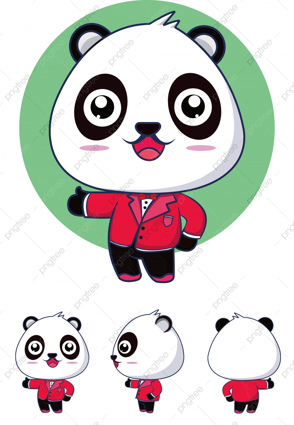 Creative image design view. Clipart panda three cartoon