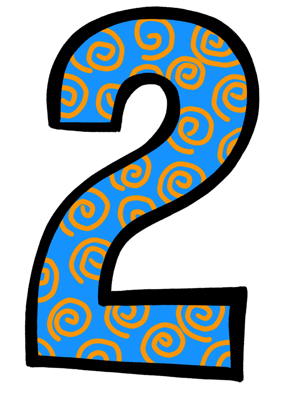 Number collection images. Clipart panda two