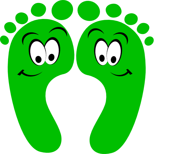 Footsteps clipart vector. Walking feet cliparts free