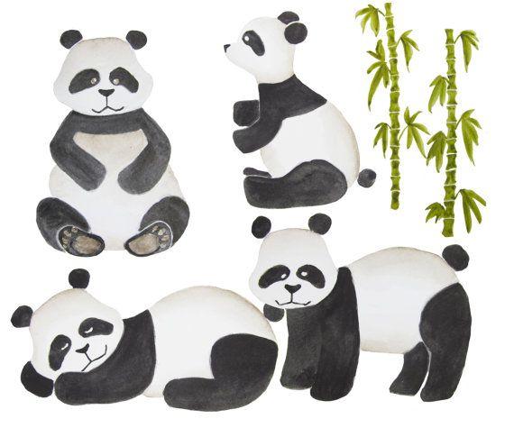 Clip art . Clipart panda watercolor