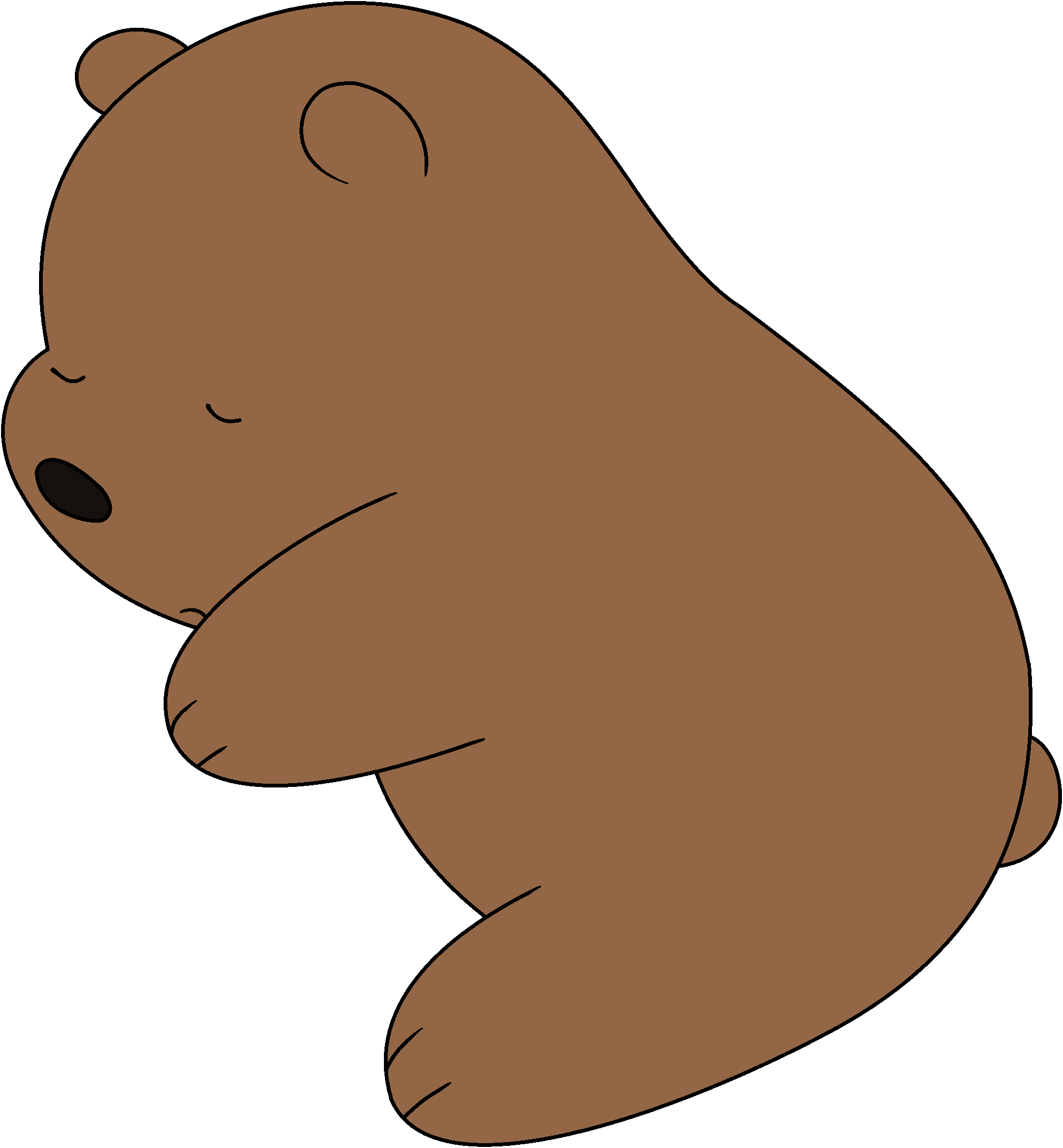 Image grizz png we. Walrus clipart baby