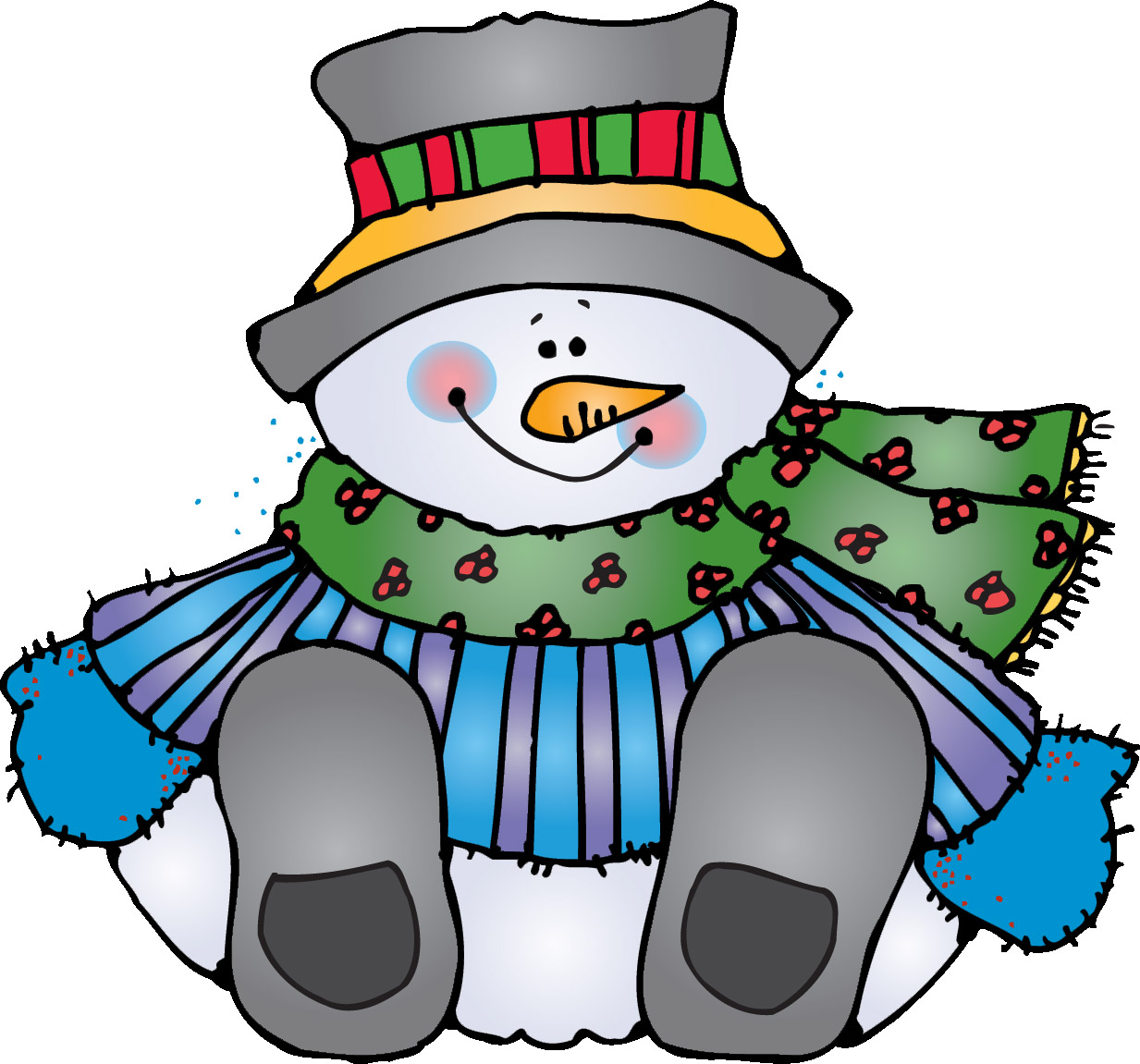 Panda free images . Winter clipart february