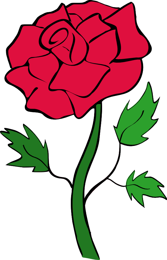 Red Rose Outline Clipart