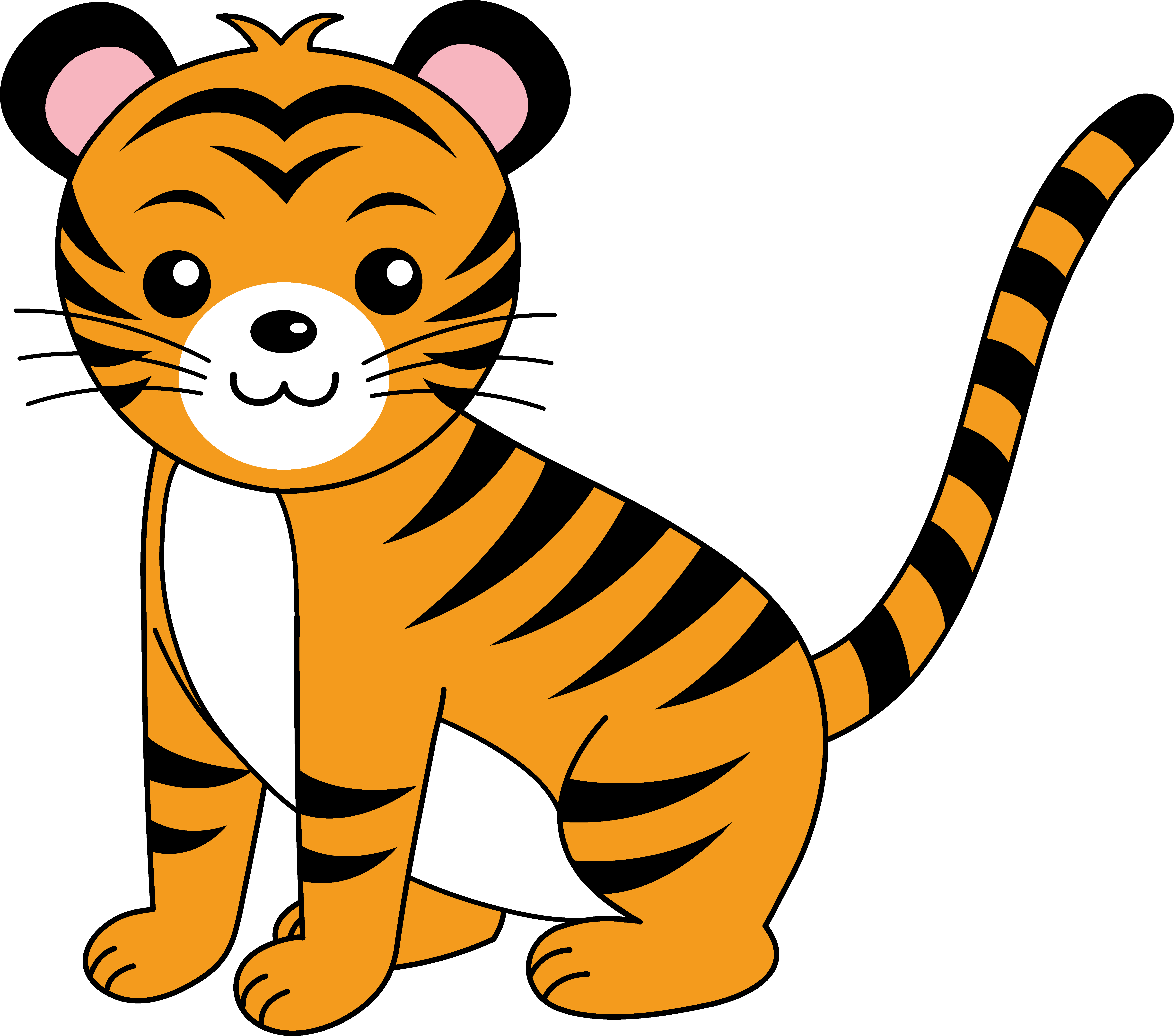 Clipart tiger real. Jungle animal images free