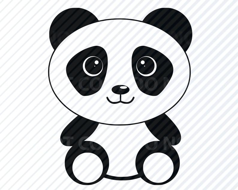 Panda clipart vector. Baby svg files images