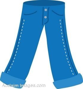 Clipart pants. Pair of