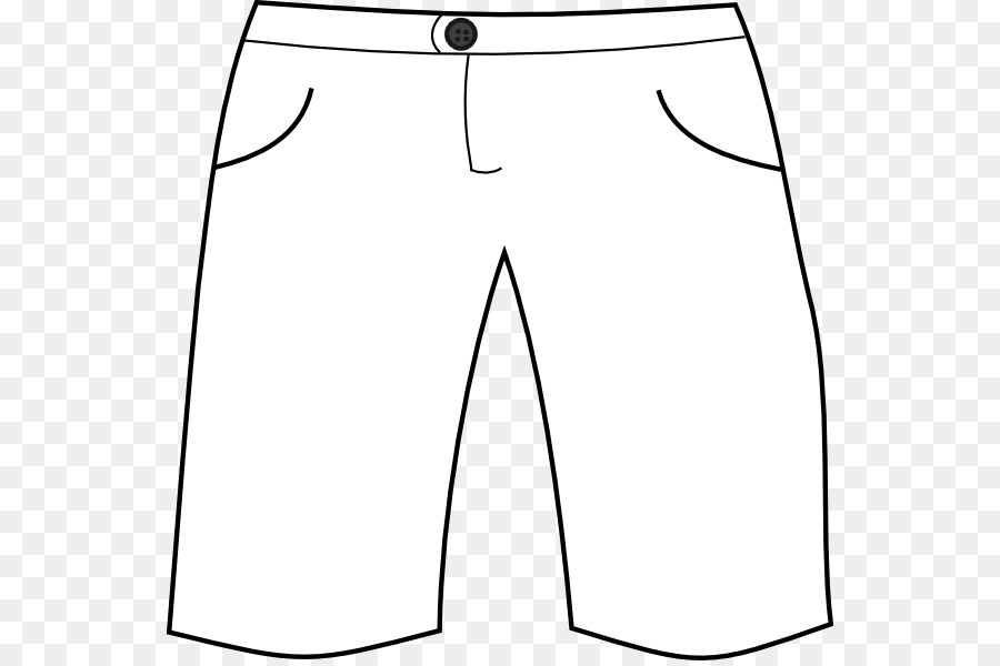 Clipart pants. T shirt shorts white