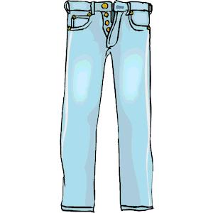 Project title sequence clip. Clipart pants blue jean