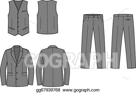 Eps vector suit stock. Clipart pants business