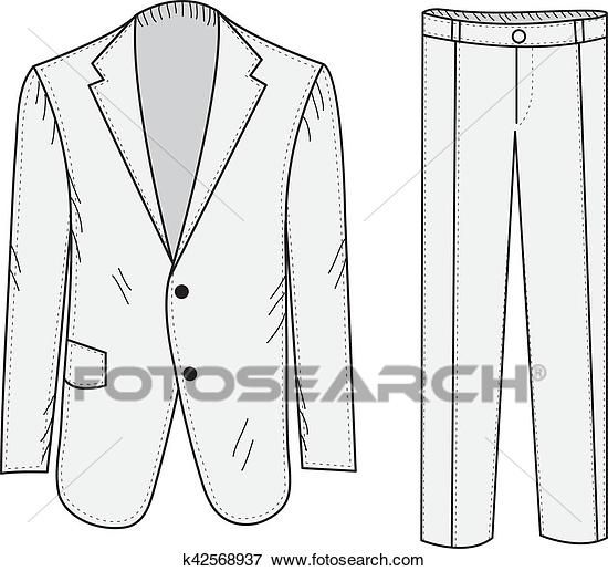 Clipart pants business. Suit sketch office in