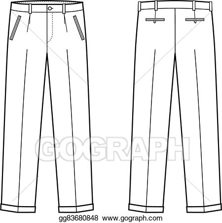 Vector art drawing gg. Clipart pants business