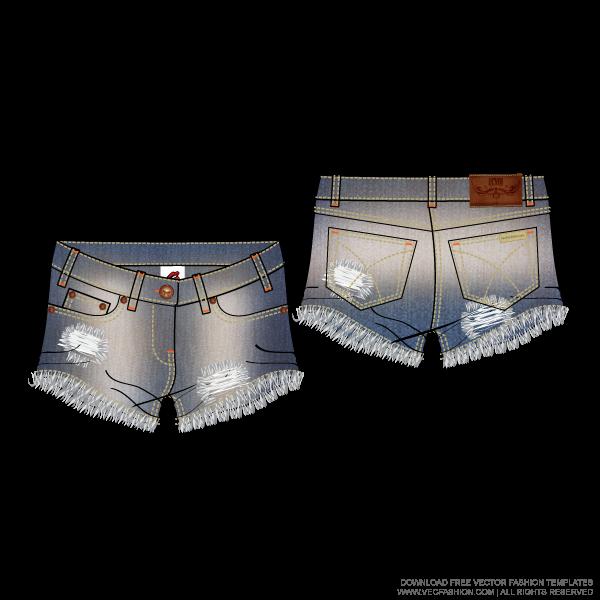 Clipart pants capris. Women denim hot with