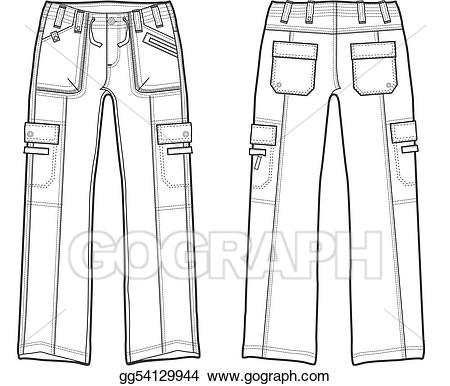 Clipart pants cargo pants. Drawing lady fashion