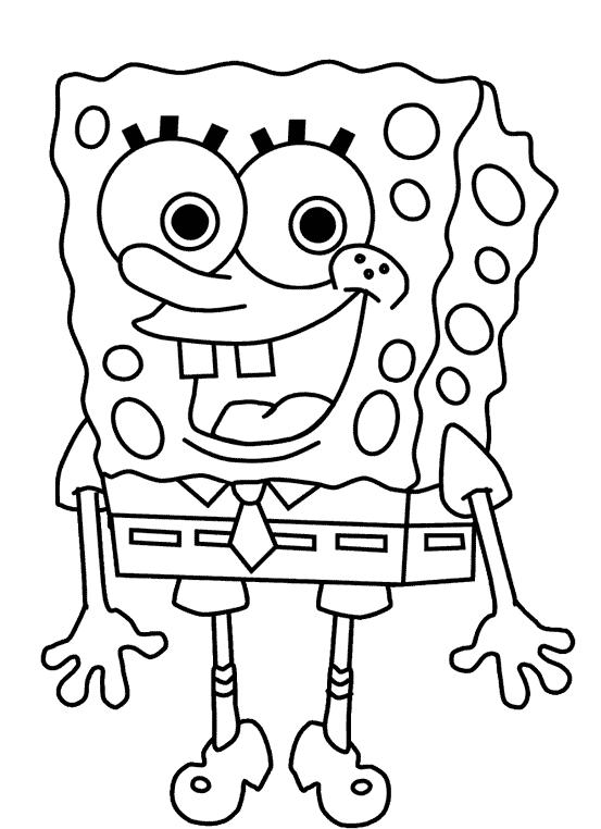 spongebob squarepants christmas coloring pictures ...   762x553