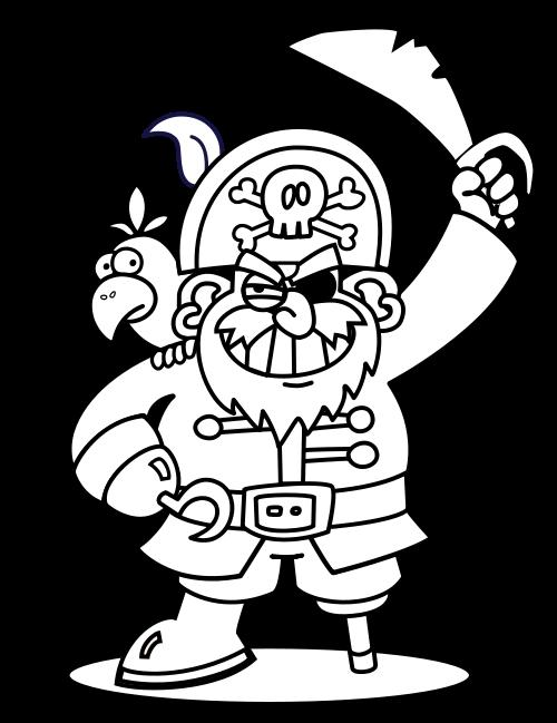 Pirate clipart shovel. Free printable doodle art