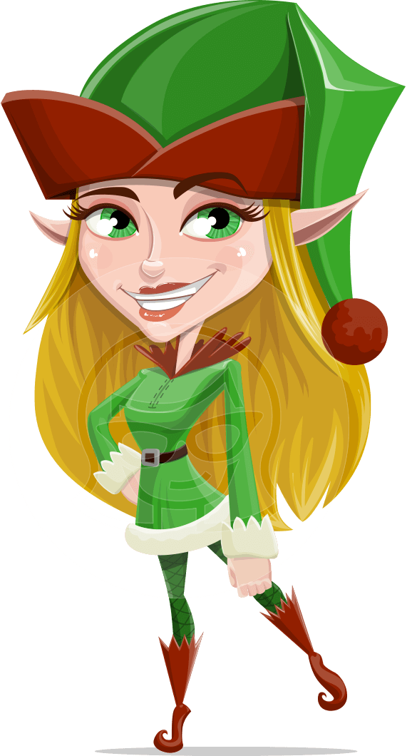 Girl clipart elf. Candy licious a female