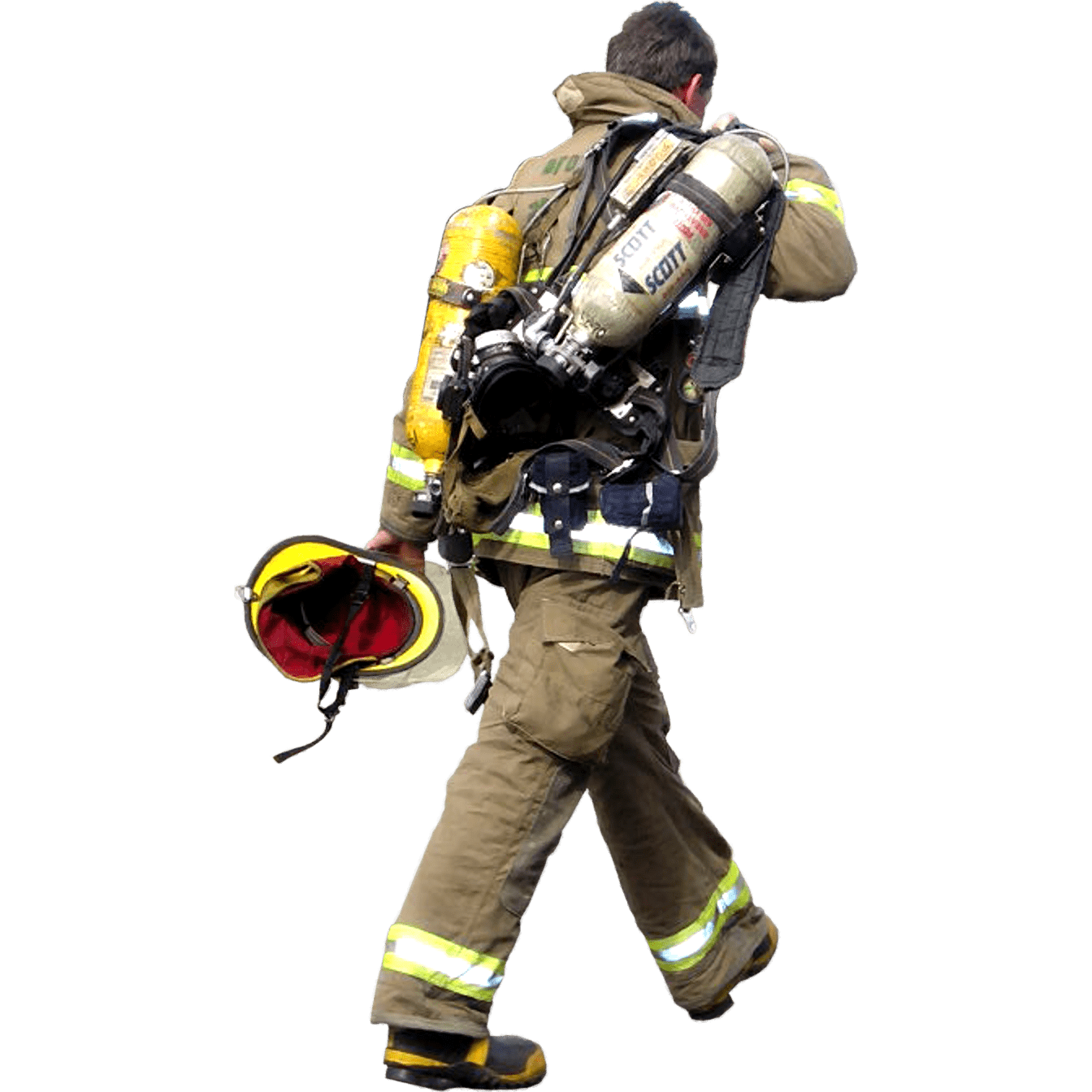 Firefighter walking transparent png. Voting clipart person