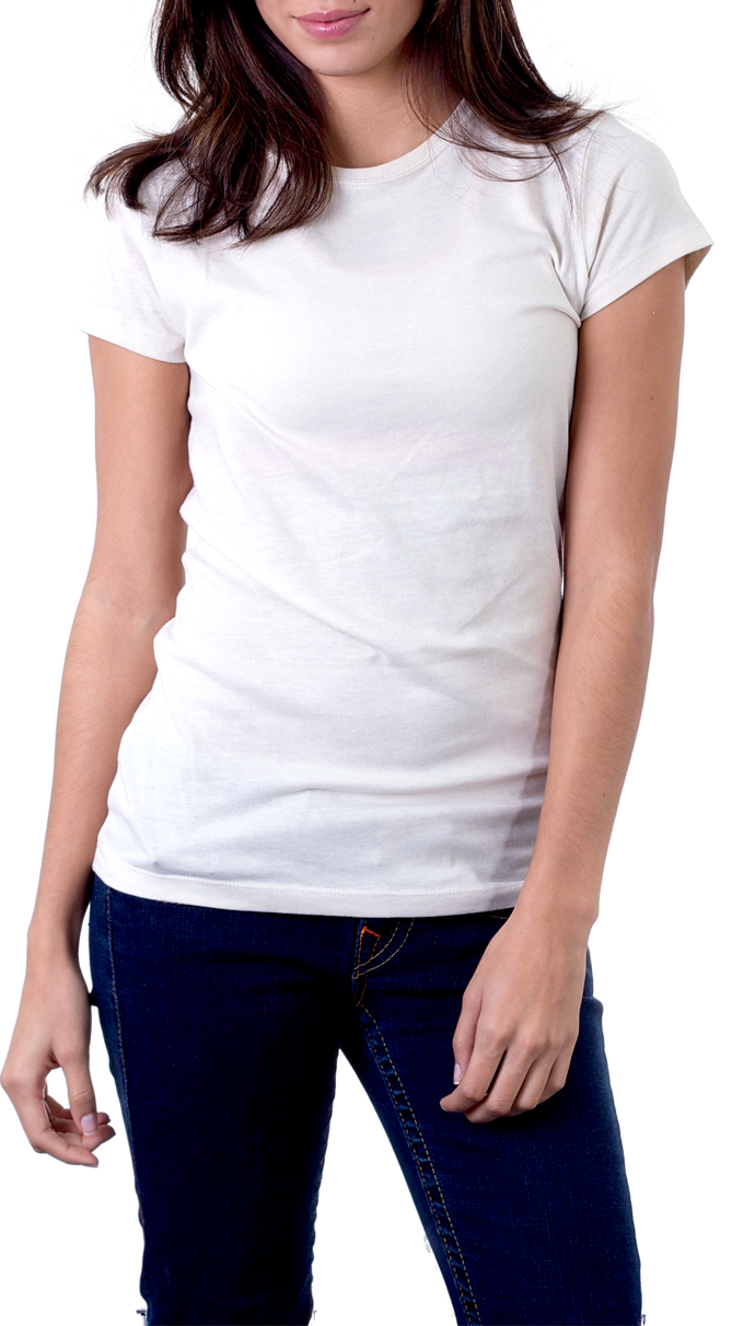 Girl wearing t isolated. Clipart shirt woman shirt