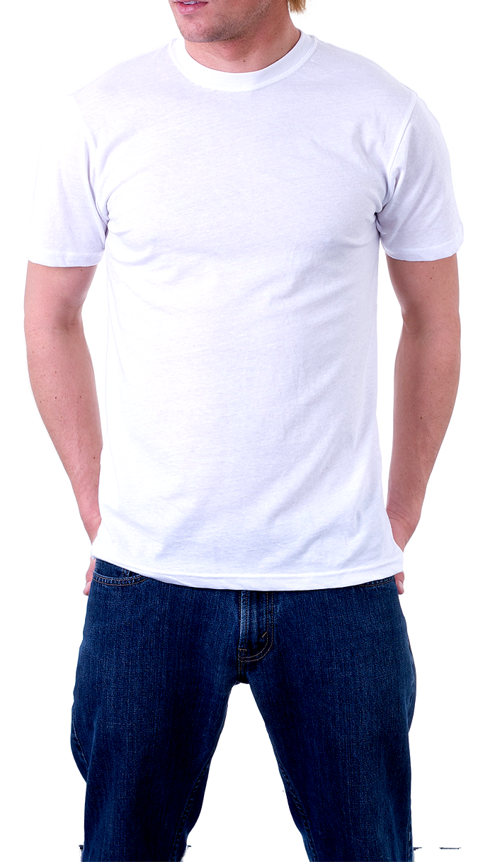 Jeans clipart t shirt. Man wearing isolated stock