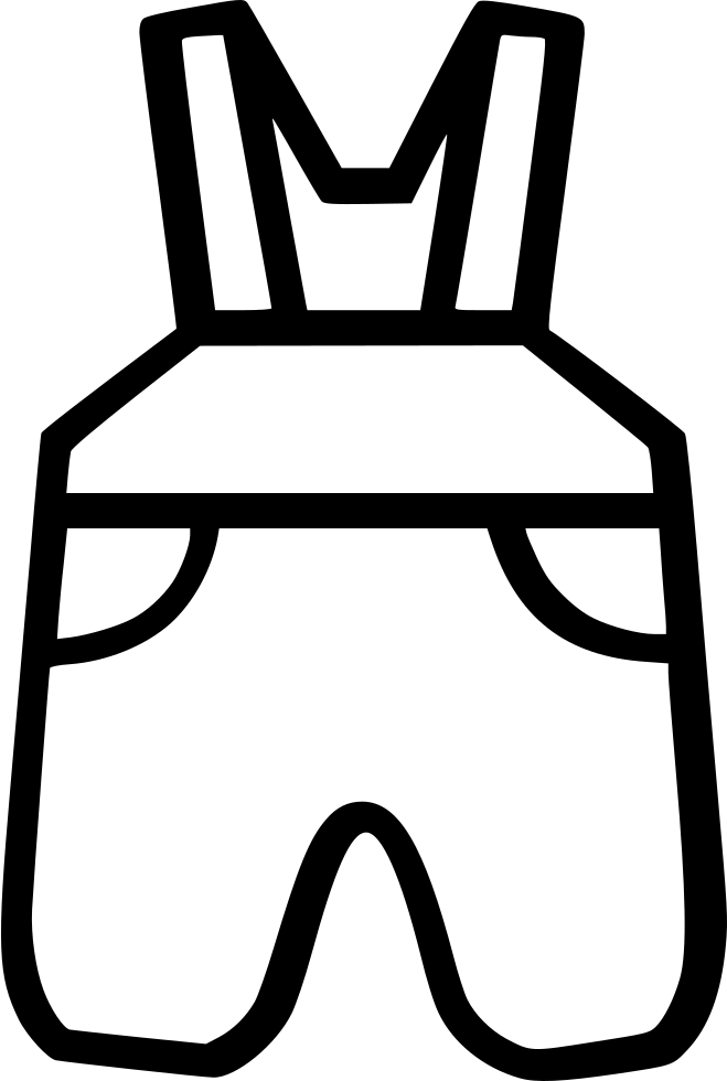 Pants clipart line art. Baby overalls svg png