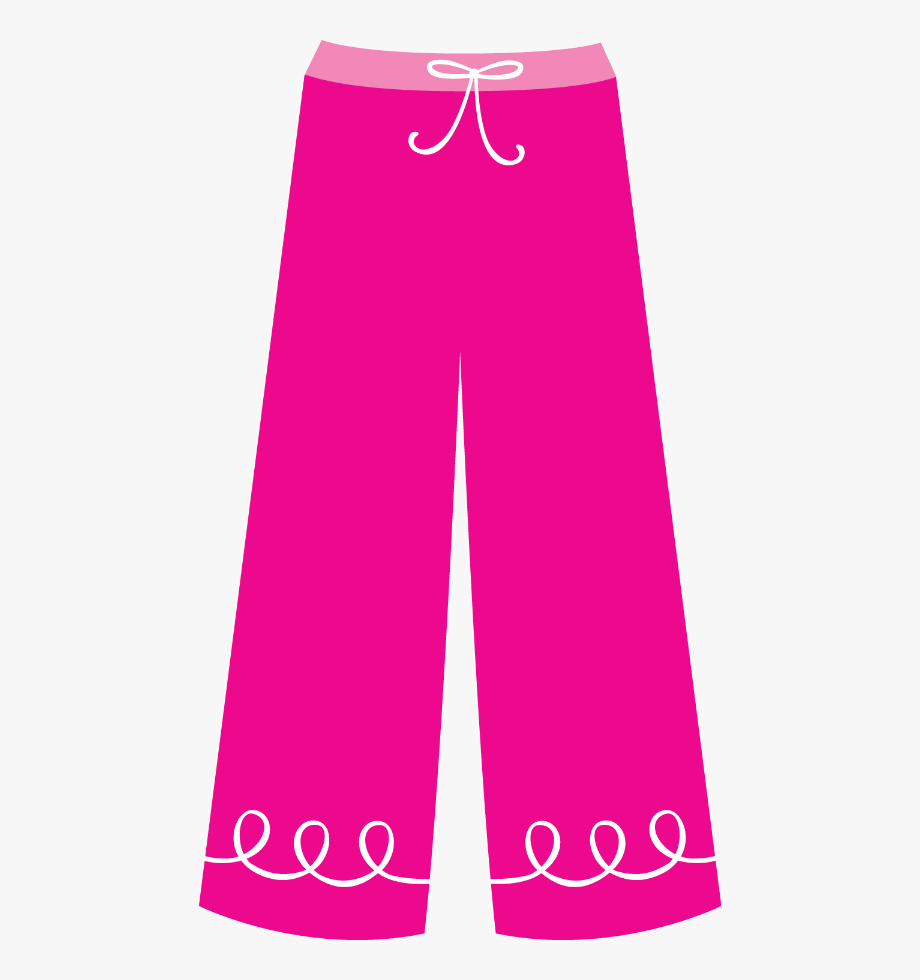 Pajamas clipart pajama pants. Paper dolls silhouettes clip