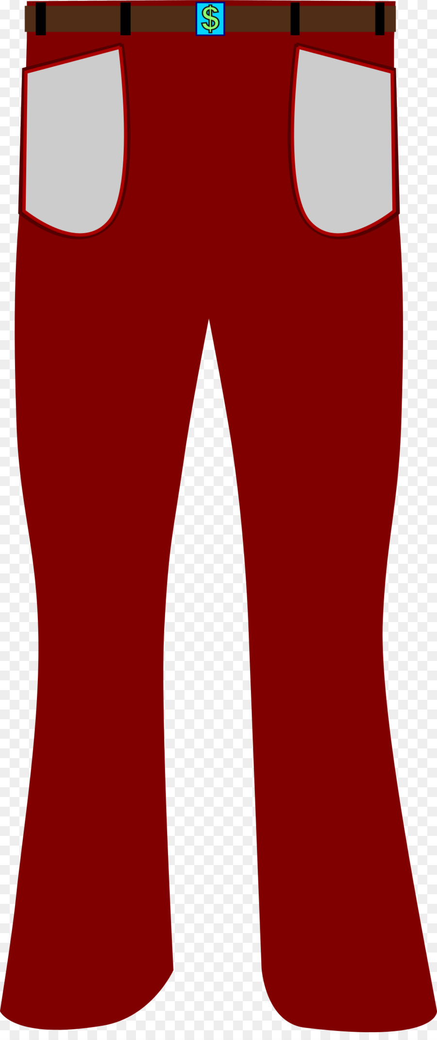 Jeans cartoon tshirt clothing. Clipart pants red pants