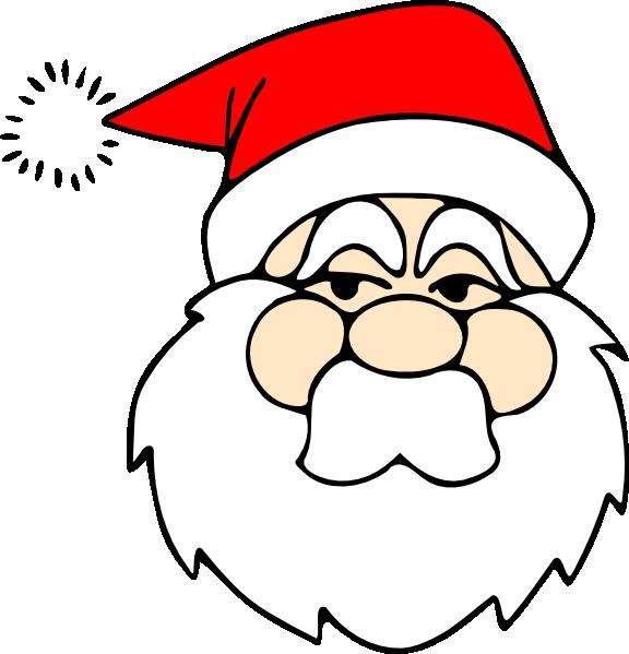 Clipart pencil face. Santa line art clip