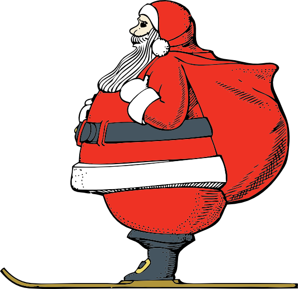 Clipart santa coat. Skiing clip art at