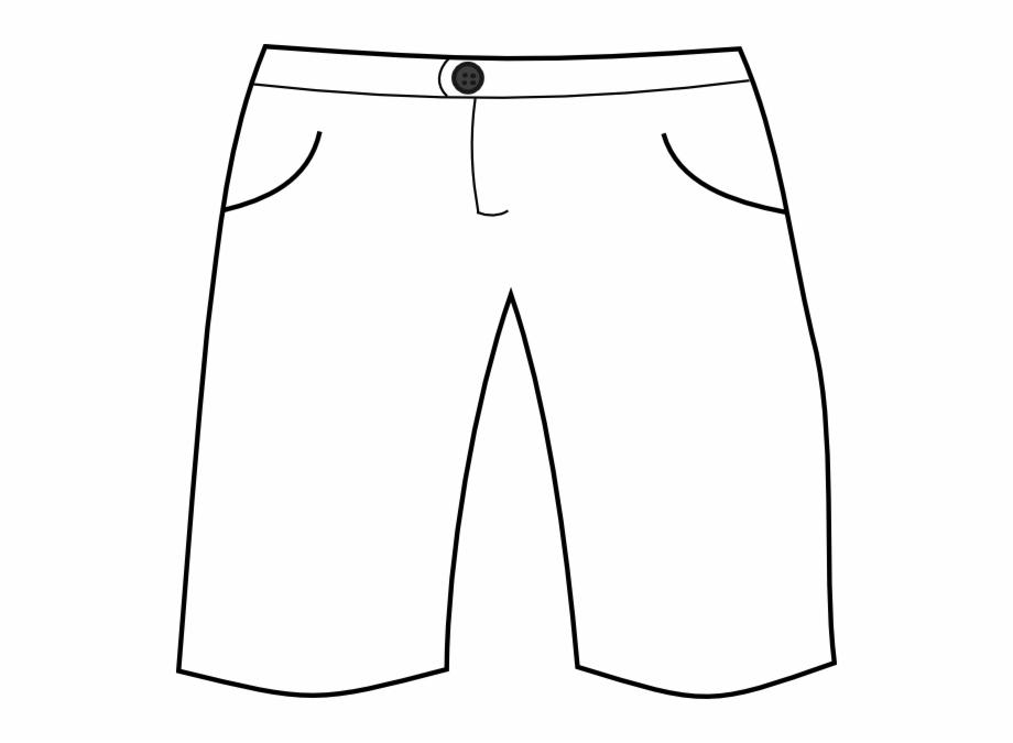 Clip art black and. Clothes clipart shorts