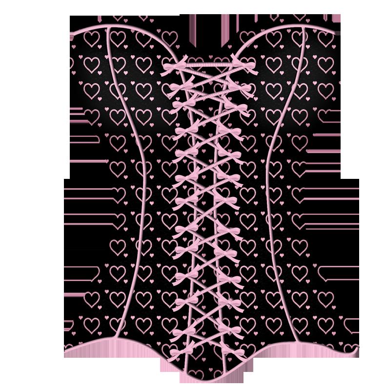 Lacarolita seduction png pinterest. Lace clipart corset lace