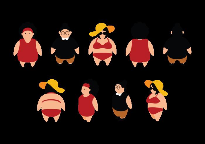 Fat clipart fat female. Plus size woman silhouette