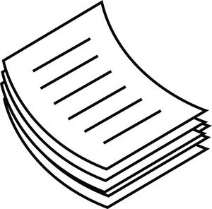 Clip art of pile. Paper clipart