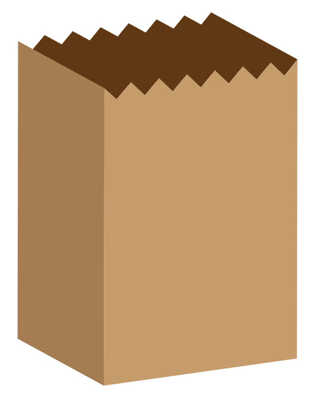 Brown paper . Luggage clipart animated