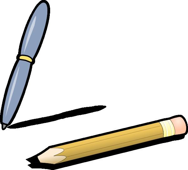 Pen pencil clip art. Journal clipart ballpen