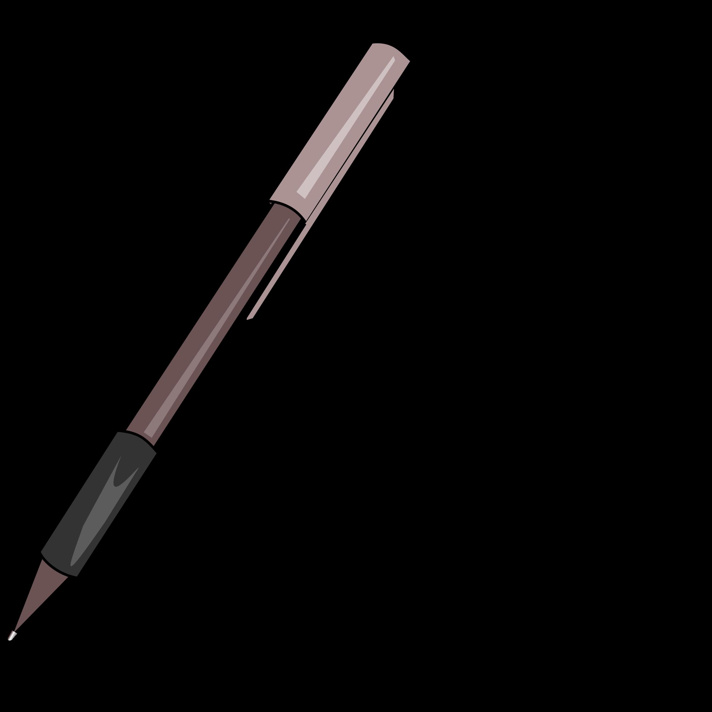 Grip pen big image. Paper clipart ballpen