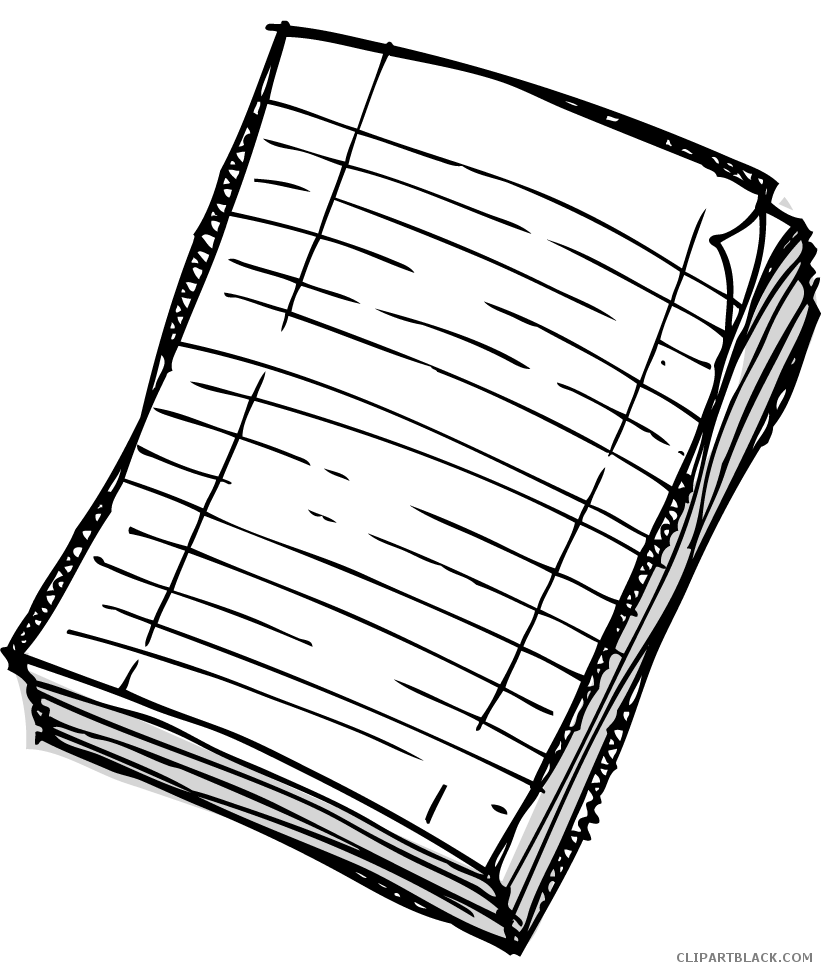 Paper clipart black and white. Clipartblack com tools free
