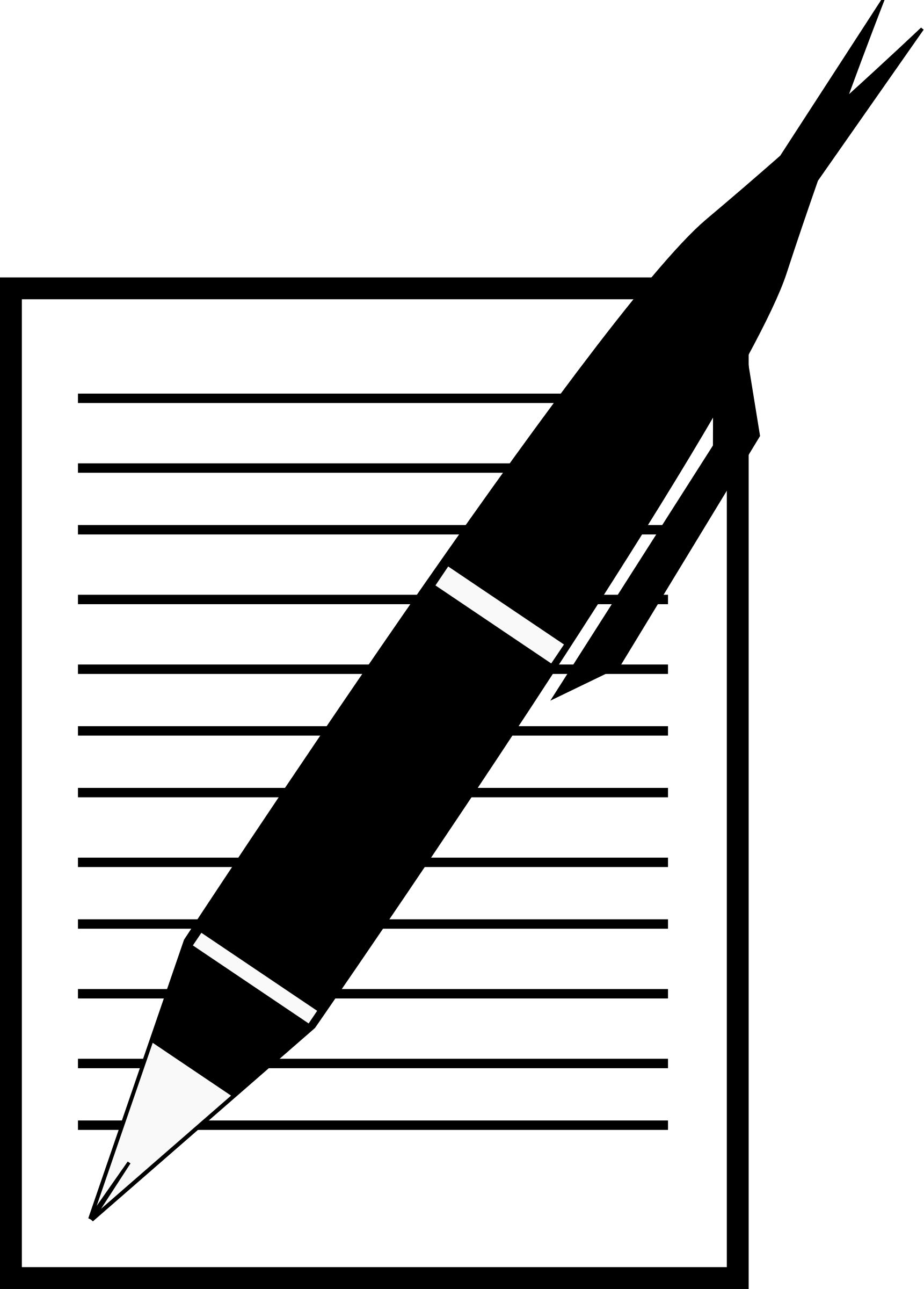 Note clipart pen and paper. Black white letters format