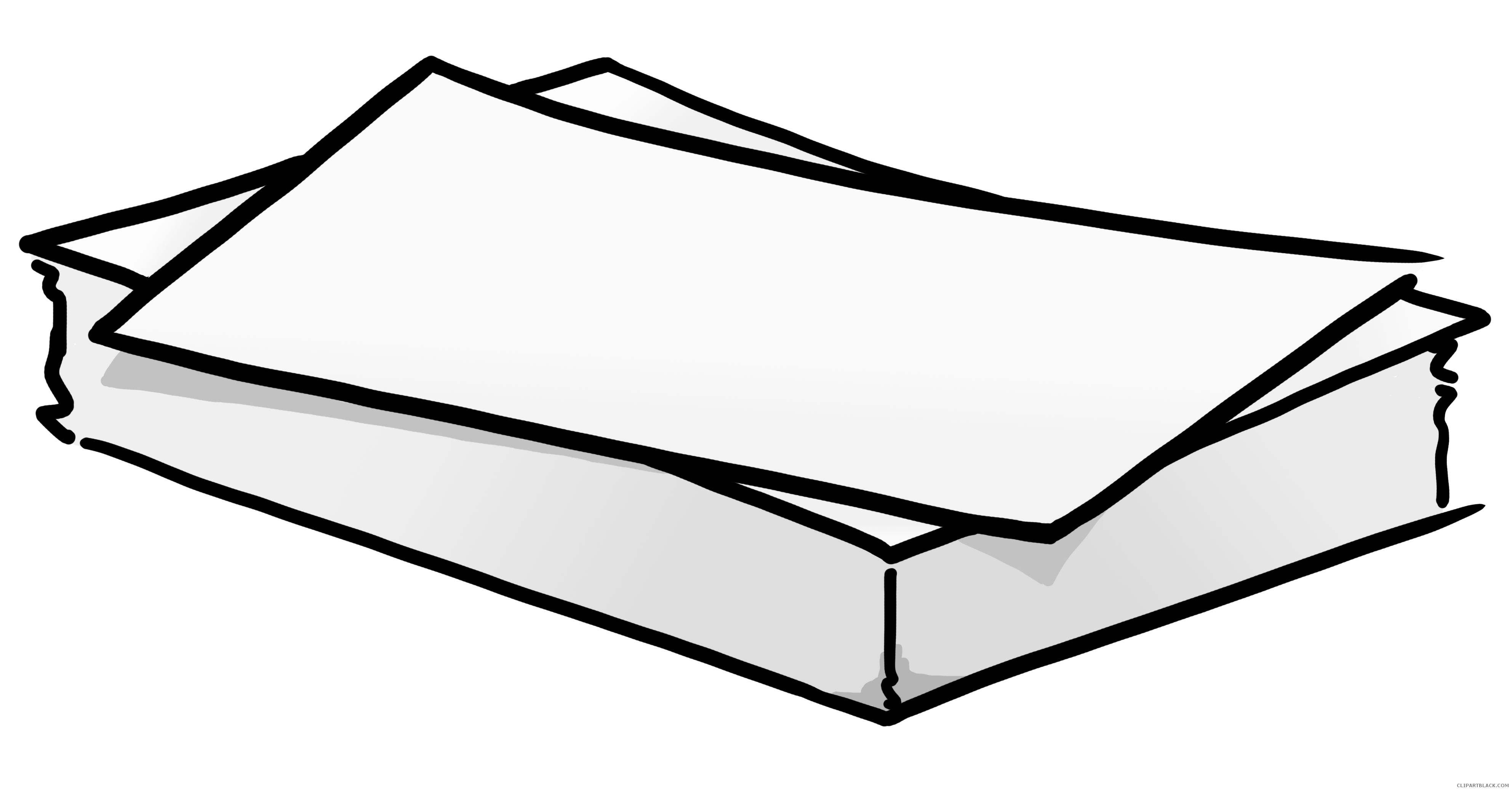 Stack of clipartblack com. Paper clipart black and white
