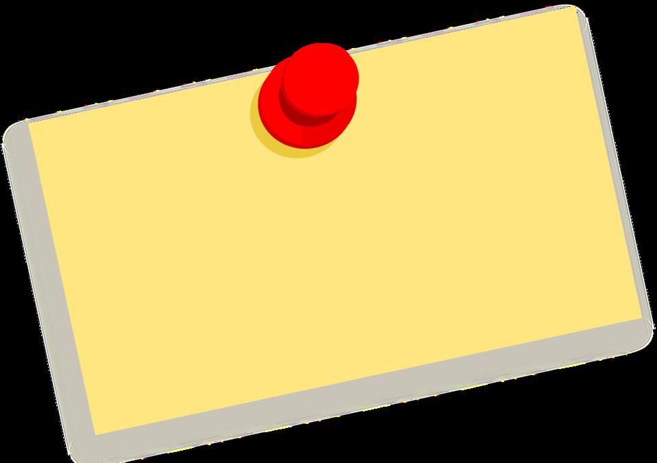 Paper clipart sticky note. Public domain clip art