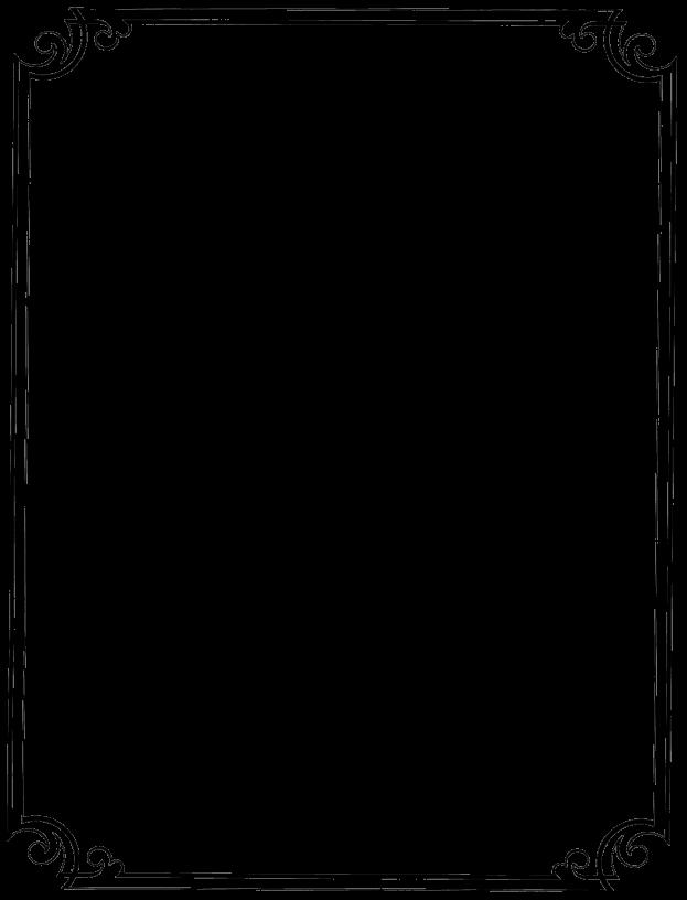 Fancy menu borders templates. Clipart paper boarder