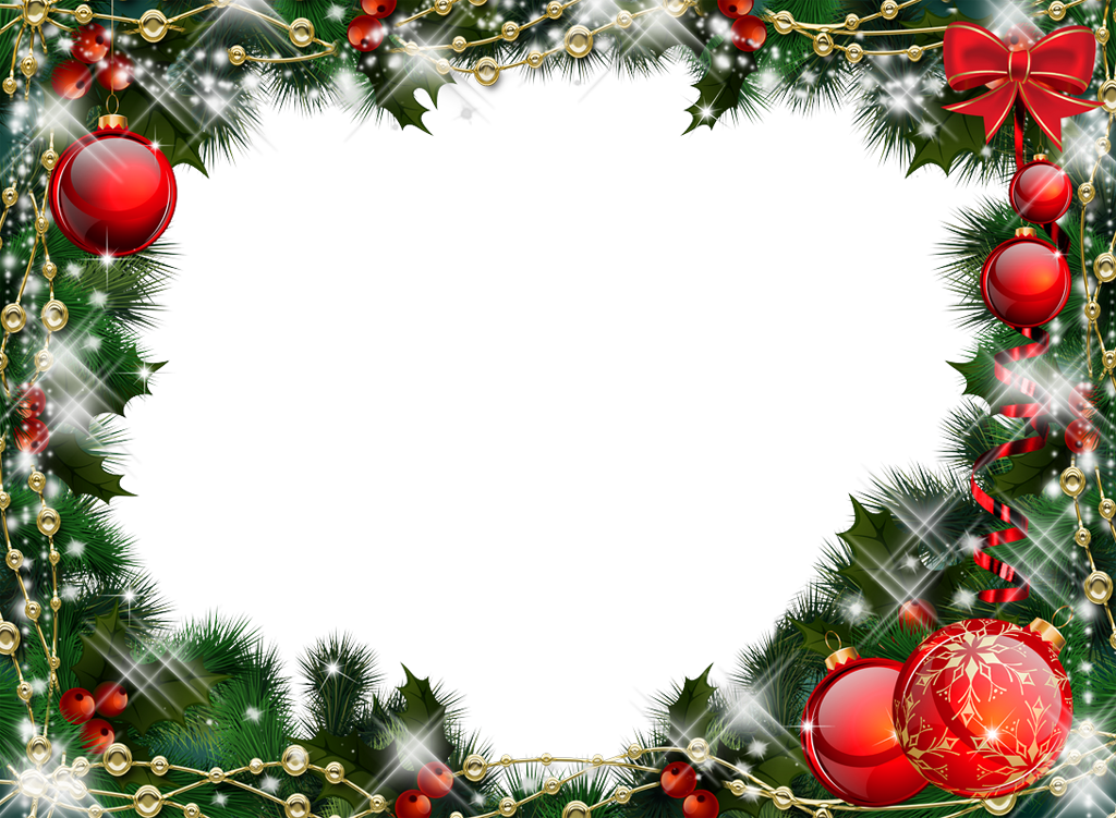 Garland clipart transparent background christmas. Green photo frame with