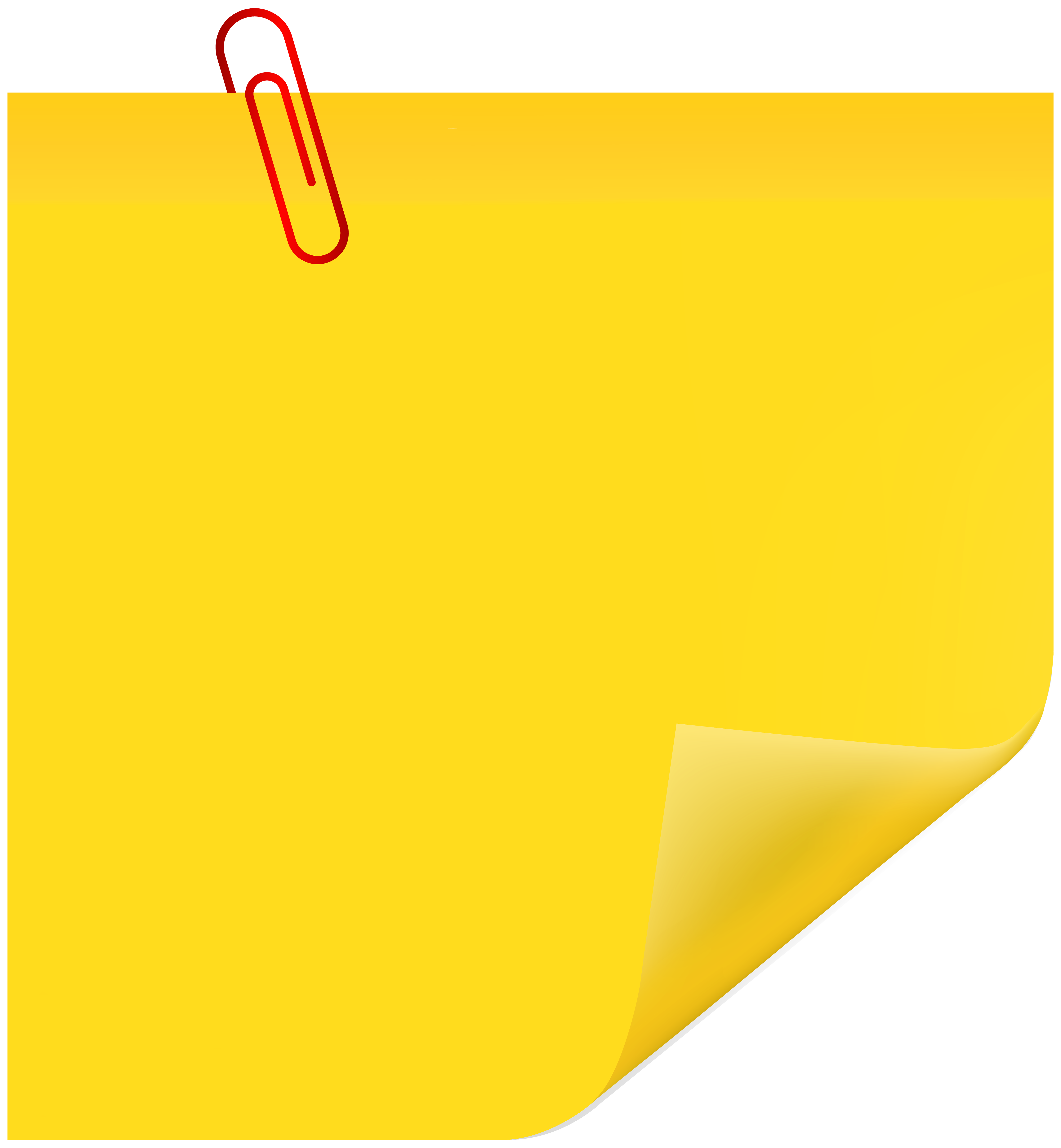 Note clipart paperclip. Sticky with png clip