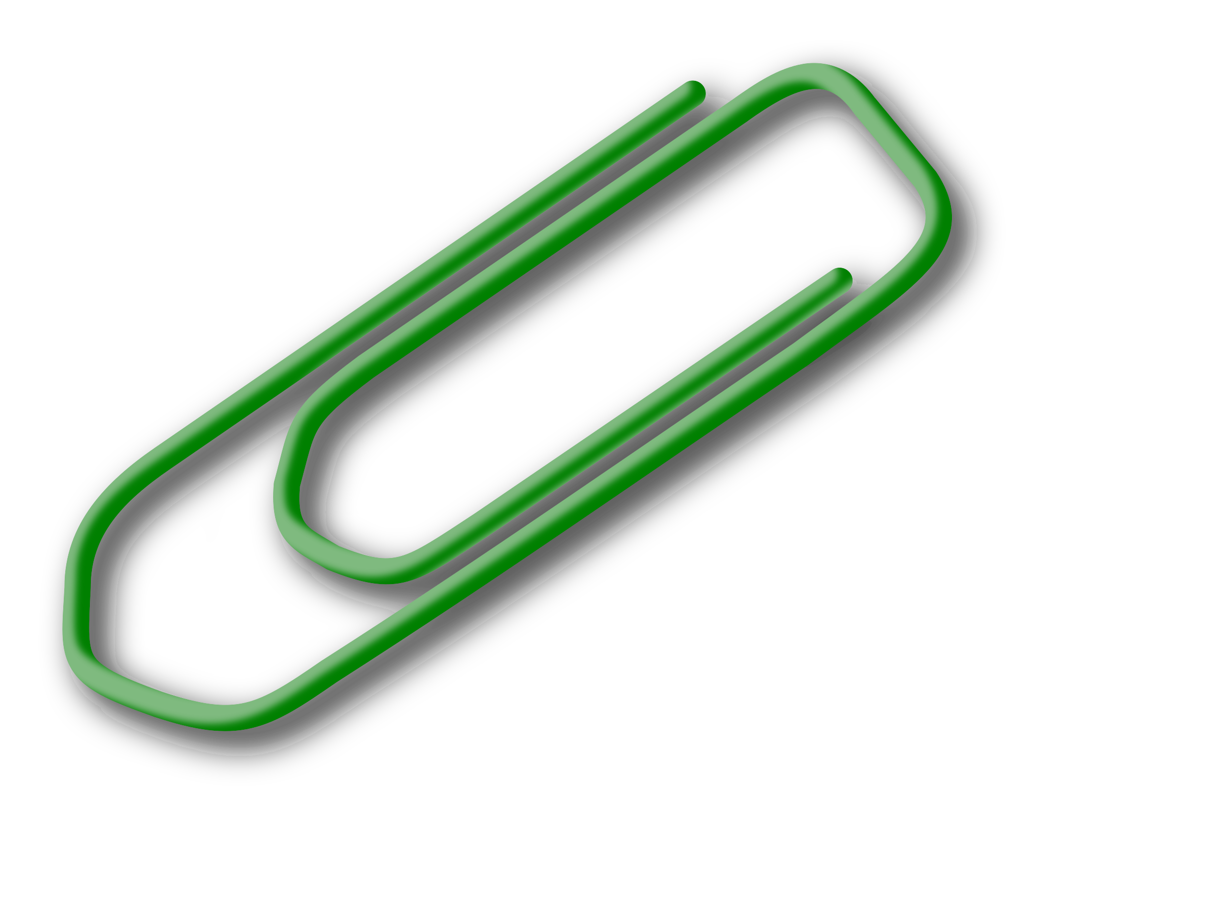 Green big image png. Note clipart paperclip