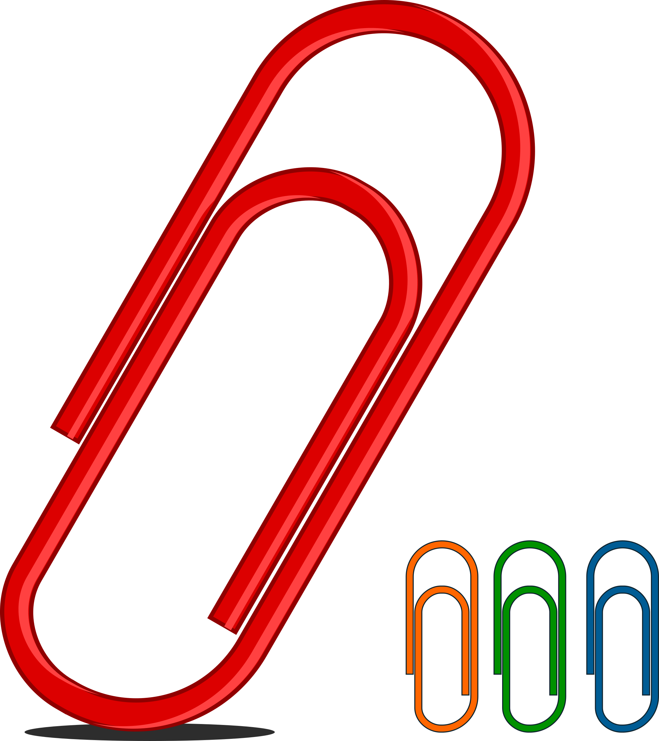 Many colors big image. Note clipart paperclip