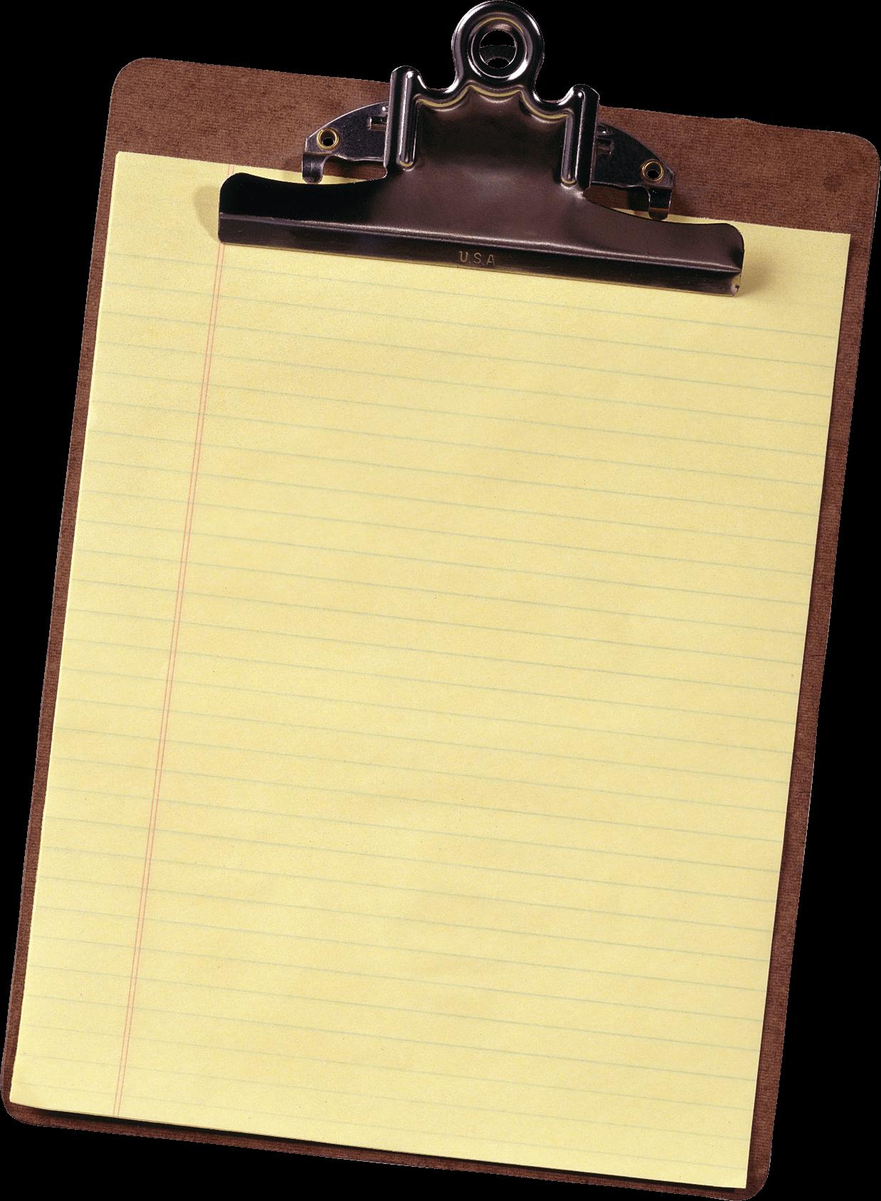 Holder paper sheet png. Clipboard clipart transparent background
