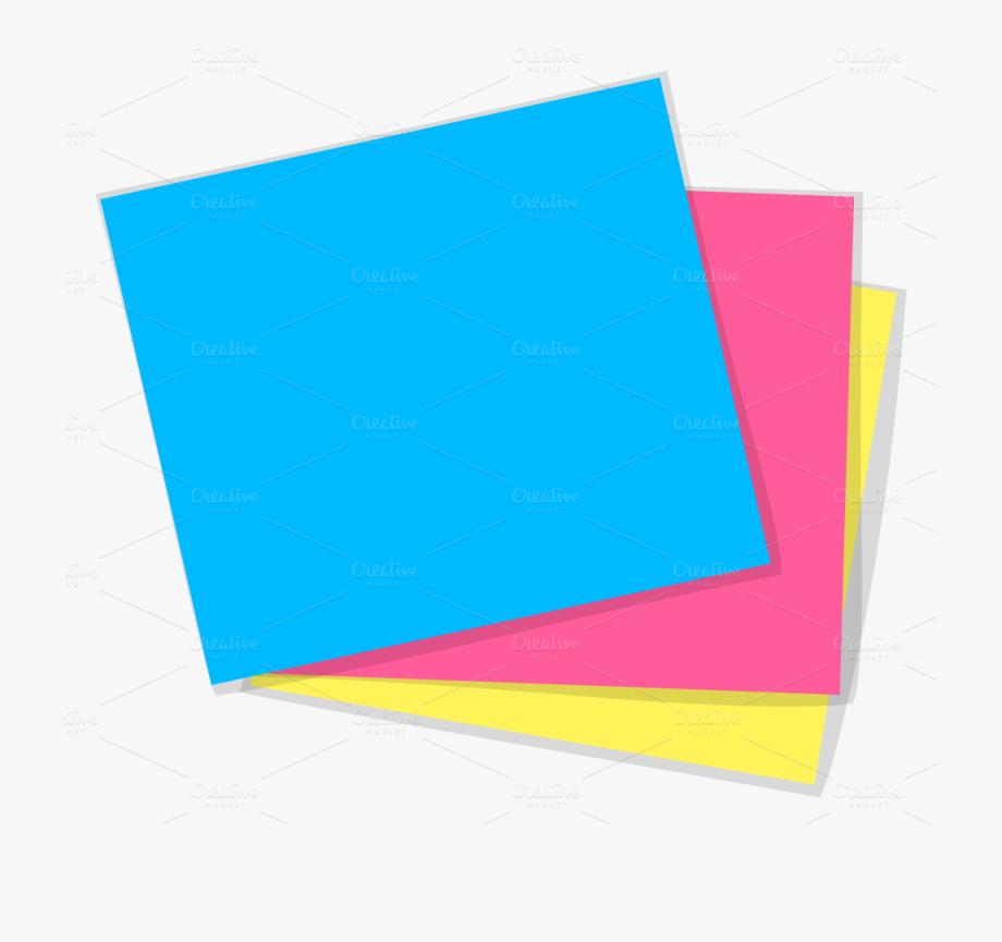 Sticky note transparent png. Paper clipart colour paper