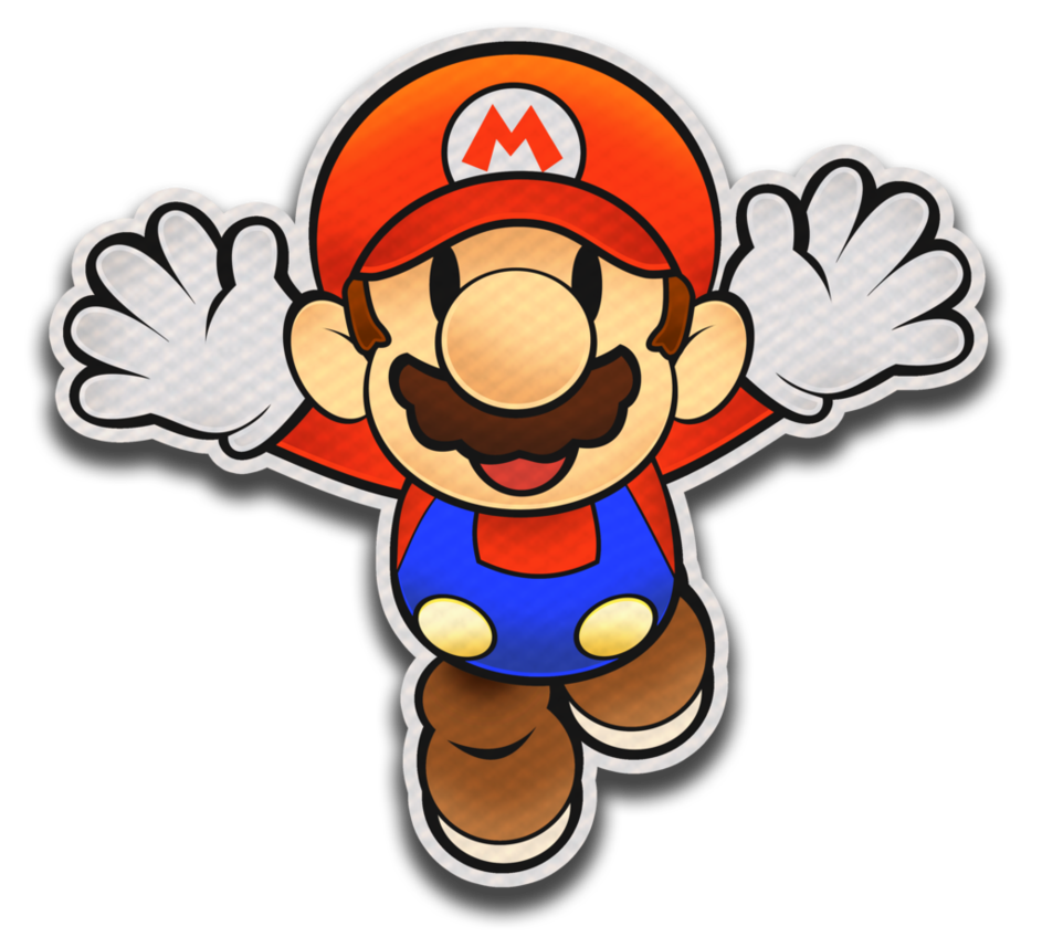 Splash clipart water game. Paper mario color style