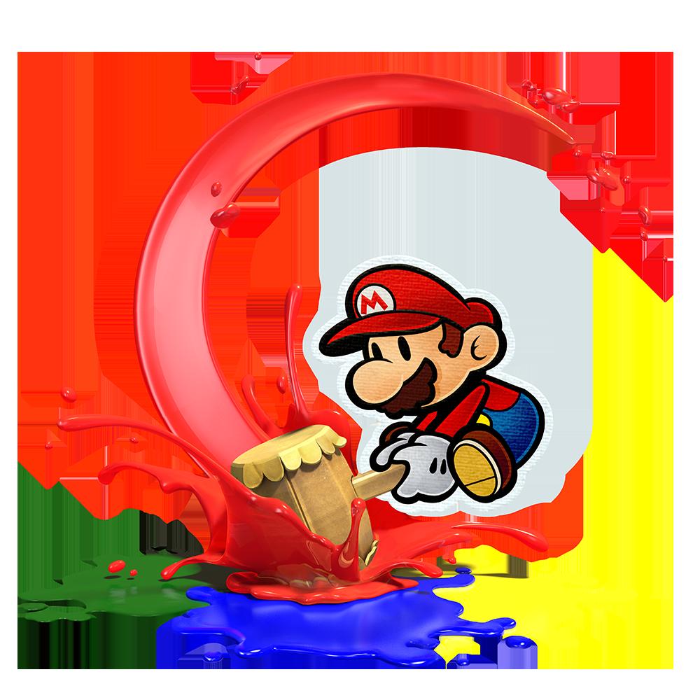 Paper clipart colour paper. Mario color splash birthday