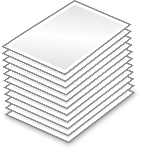 document clipart stack papers